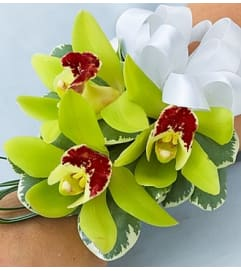 Beach Wedding Corsage - Cymbidium Orchid