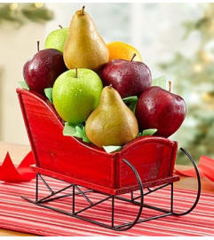 Fruit Filled Christmas Sleigh