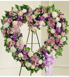 Lavender and White Open Heart