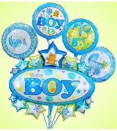 Baby Boy Marquee Mylar Bundle