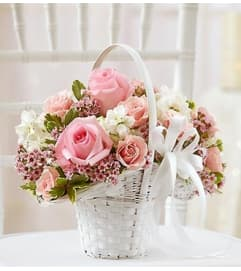 Pink and White Flower Girl Arrangement