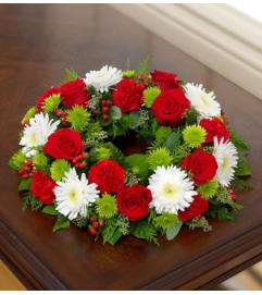 Cremation Wreath - Holiday