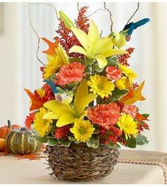 Autumn Birds Nest of Flowers™