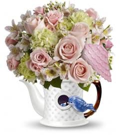 Teleflora's Bluebird Blush Bouquet