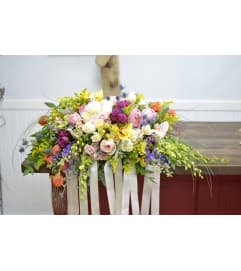 Spring Blooms Casket Spray