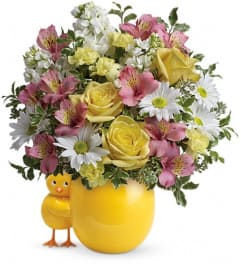 Teleflora's Sweet Peep Bouquet - Baby Pink