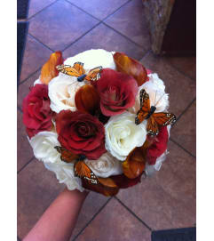 Butterflies and Roses Bouquet