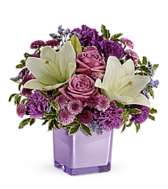 Teleflora's pleasing purple bouquet