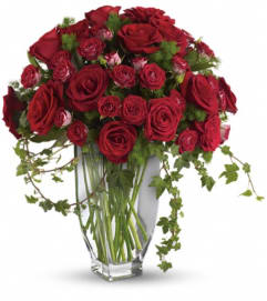 Teleflora's Rose Romanesque Bouquet - Red Roses