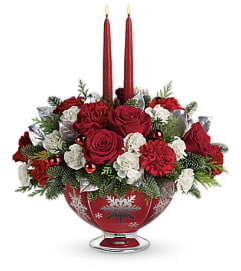 Teleflora's Silver And Joy Centerpiece