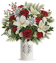 Teleflora's Festive Flurries Bouquet