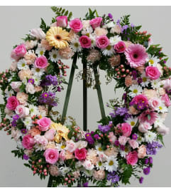 Beautiful Spring Floral Wreath