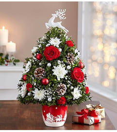Santa's Sleigh Ride™ Holiday Flower Tree®