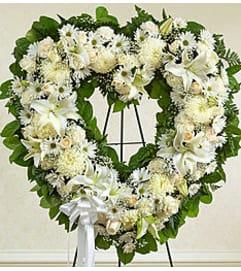 White Standing Heart
