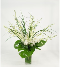 Elegant White Orchid Vase Arrangement