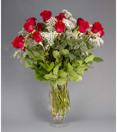 Over Abundant Rose Vase