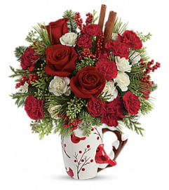 Send a Hug® Christmas Cardinal by Teleflora