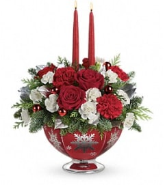 Teleflora's Silver and Joy center piece