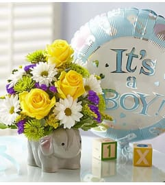 New Baby Boy Elephant Bouquet
