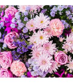 Pink flowers flowers by priscilla paoli pa florist pink purple flowers arranged mightylinksfo