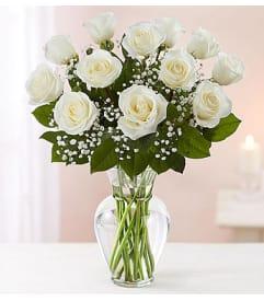 Rose bouquets arrangements flowers of charlotte charlotte nc white roses one dozen mightylinksfo