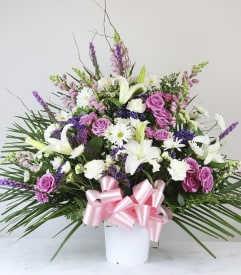 Custom designed flowers gifts staten island ny florist celebrate life funeral basket negle Images
