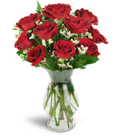 Calgary florist free flower delivery in calgary red rose florist devoted to you red roses mightylinksfo