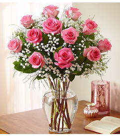 Free flower delivery in houston by your local florist rose elegance premium pink roses 1 dozen mightylinksfo