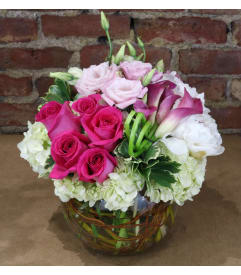 Custom designed flowers gifts staten island ny florist velvety blush negle Images