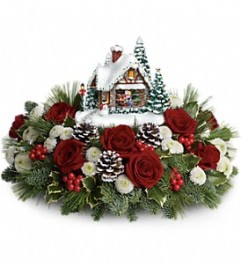 Thomas Kinkade's Meet Me Under The Mistletoe