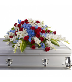 Thank You for Your Service Casket Spray