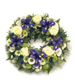 Iris Burst Wreath