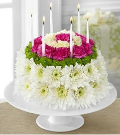 FTD's Wonderful Wishes Floral Birthday Cake