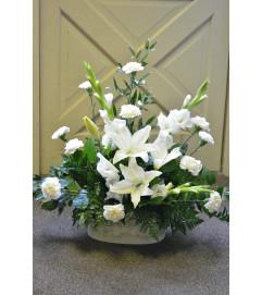 Gladiola White Floor Basket
