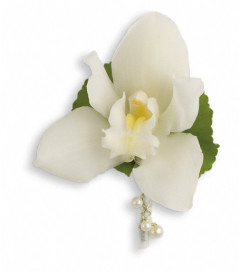 Shimmering Pearls Boutonniere