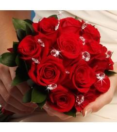 Red Velvet Bridal Bouquet