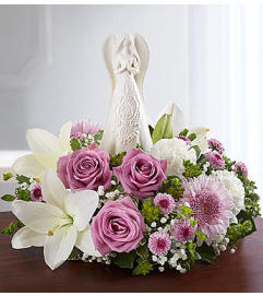 Peaceful Prayers™ Serenity Angel Arrangement Lavender and White
