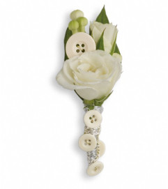 All Buttoned Up Boutonniere