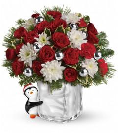Teleflora's Send a Hug Penguin Bouquet