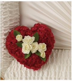A Devoted Heart Casket Insert
