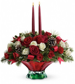 Teleflora's Colors of Christmas Centerpiece