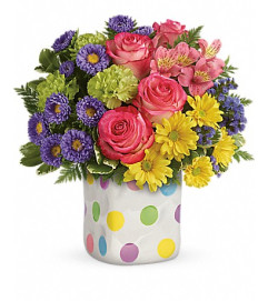 Teleflora's Happy Dots Bouquet