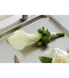 The FTD® White Calla Boutonniere