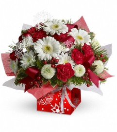 Teleflora's Winter Snowflake Present Perfect