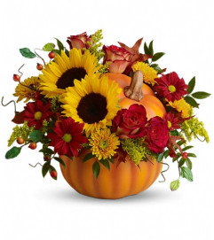Teleflora's Pretty Pumpkin Bouquet
