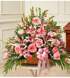 Pink Fireside Floor Basket