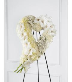 The FTD® Hearts Eternal™ Easel, White
