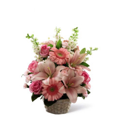 The FTD® Whispering Love™ Pink Arrangement