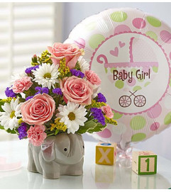 New Baby Girl Elephant Bouquet