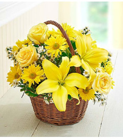 Basket of Sunshine™ with Roses